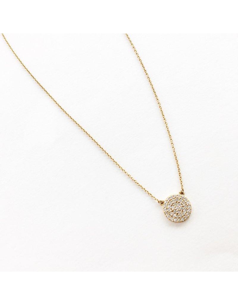 LAUREN FINE JEWELRY Round Diamond Cluster Necklace