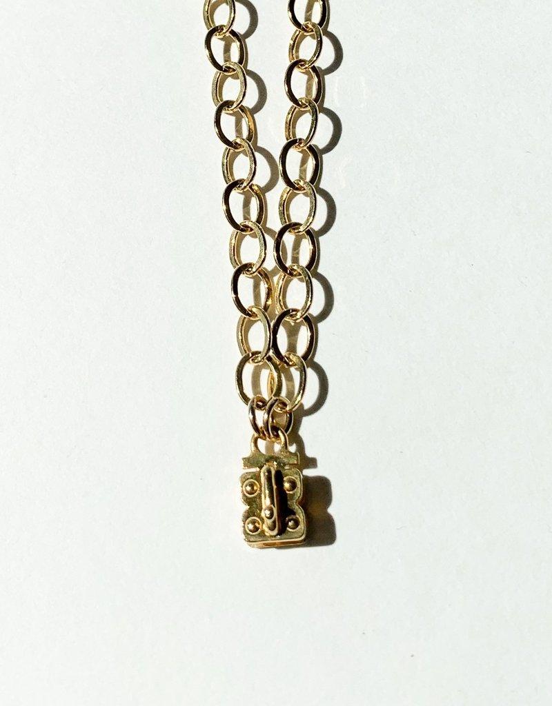 "SENNOD Flat Cable Vignette Chain - Gold 18"""