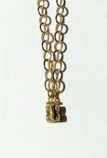 "SENNOD Flat Cable Vignette Chain - Gold 20"""