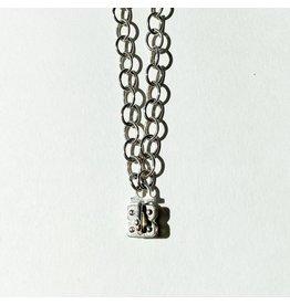 """SENNOD Flat Cable Vignette Sterling Necklace 34"""""""
