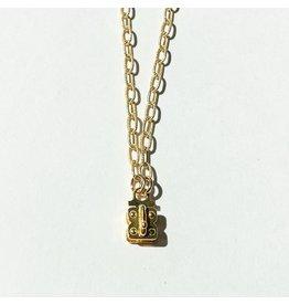 """SENNOD Matte Vignette Chain 18"""" Gold"""