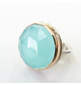 JAMIE JOSEPH Aqua Chalcedony Ring