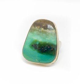 JAMIE JOSEPH Indonesian Blue Fossilized Opalized Wood Ring