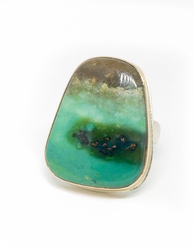 JAMIE JOSEPH Blue Indonesian Fossilized Opalized Wood Ring