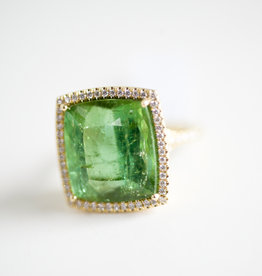 LAUREN K Green Tourmaline Kate Ring