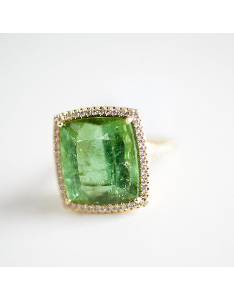 LAUREN K Green Tourmaline Kate Ring