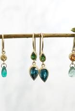 MALLARY MARKS Apple & Eve Earrings - Orange Sapphire & Emerald