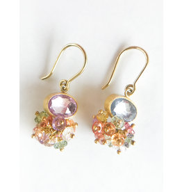 MALLARY MARKS Sprinkle Earrings Multi Sapphire
