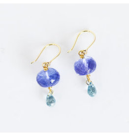 MALLARY MARKS Spun Sugar Earrings - Tanzanite & Light Blue Zircon