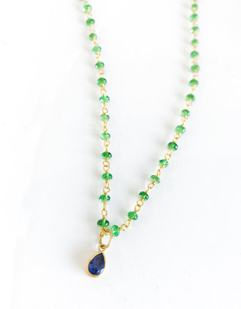 MALLARY MARKS Spun Sugar Necklace - Tsavorite & Purple Sapphire