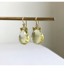 ERICA MOLINARI 18K Lemon Citrine Drop Earrings