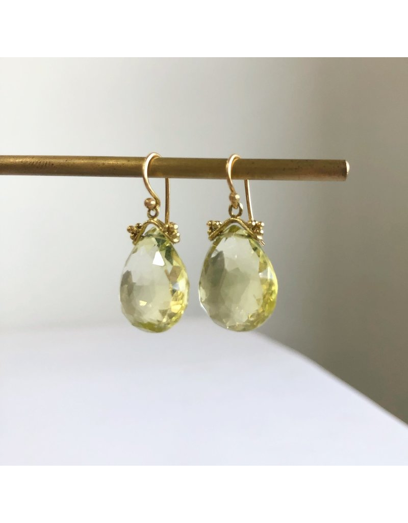 ERICA MOLINARI 18k Lemon Citrine Drop Earrings