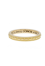 ERICA MOLINARI 18K Granule Inscription Band
