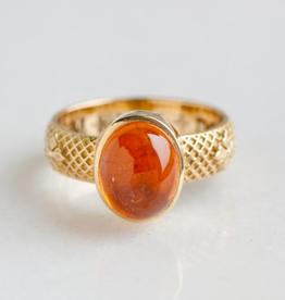 ERICA MOLINARI Mandarin Garnet Flower Ring
