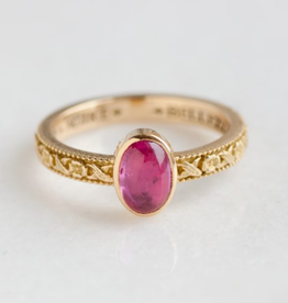 ERICA MOLINARI Pink Tourmaline Flower Band Ring