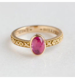 ERICA MOLINARI Pink Tourmaline Flower Band Ring