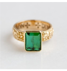 ERICA MOLINARI Rosebud Green Tourmaline Ring