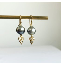 ERICA MOLINARI Tahitian Pearl Earrings