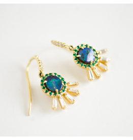 LAUREN K Boulder Opal & Diamond Iris Earrings