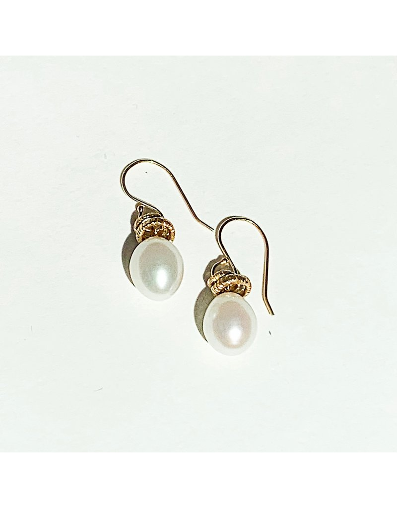 JAMIE JOSEPH White Pearl Earrings