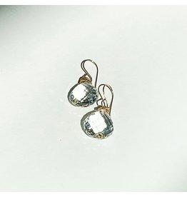 JAMIE JOSEPH White Topaz Drop Earrings