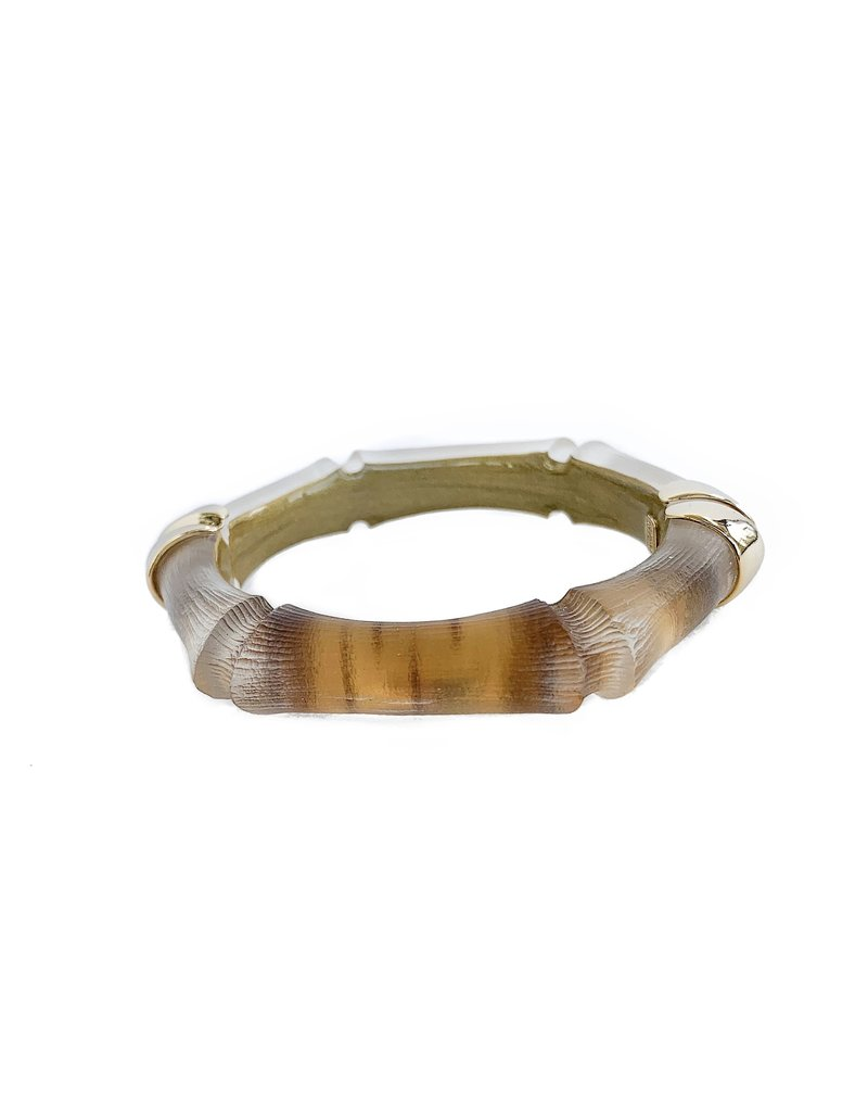 ALEXIS BITTAR Bamboo Hinge Bracelet - Gold Bamboo