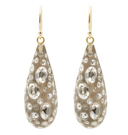 ALEXIS BITTAR Diamond Dust Dewdrop Earrings - Warm Grey