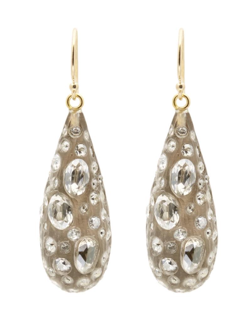 ALEXIS BITTAR Diamond Dust Dewdrop Earrings - Warm Grey