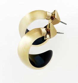 ALEXIS BITTAR Lucite Huggie Earrings - Gold