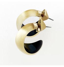 ALEXIS BITTAR Lucite Huggie Earring - Gold