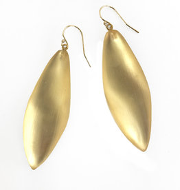 ALEXIS BITTAR Long Leaf Earrings - Gold