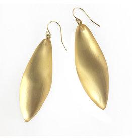 ALEXIS BITTAR Long Leaf Earring - Gold