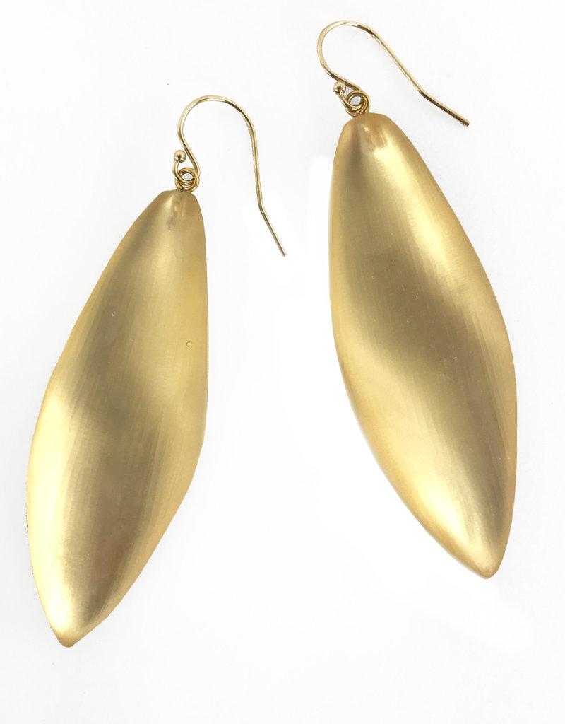 ALEXIS BITTAR Long Leaf Earrings - Gold