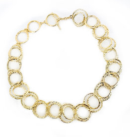 ALEXIS BITTAR Hammered Coil Link Gold Necklace
