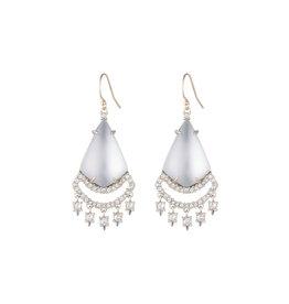 ALEXIS BITTAR Crystal Lace Chandelier Earring - Silver