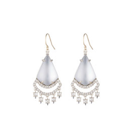ALEXIS BITTAR Crystal Lace Chandelier Earrings - Silver