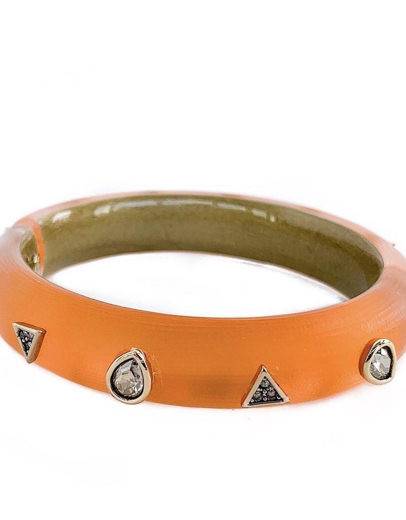 ALEXIS BITTAR Crystal Pear Studded Hinge Bracelet - Orange