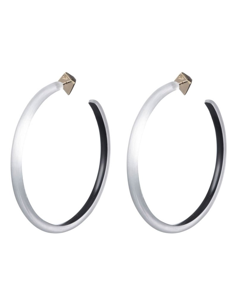 ALEXIS BITTAR Large Skinny Hoop Earrings - Silver