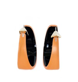 ALEXIS BITTAR Wide Graduated Medium Hoop - Orange