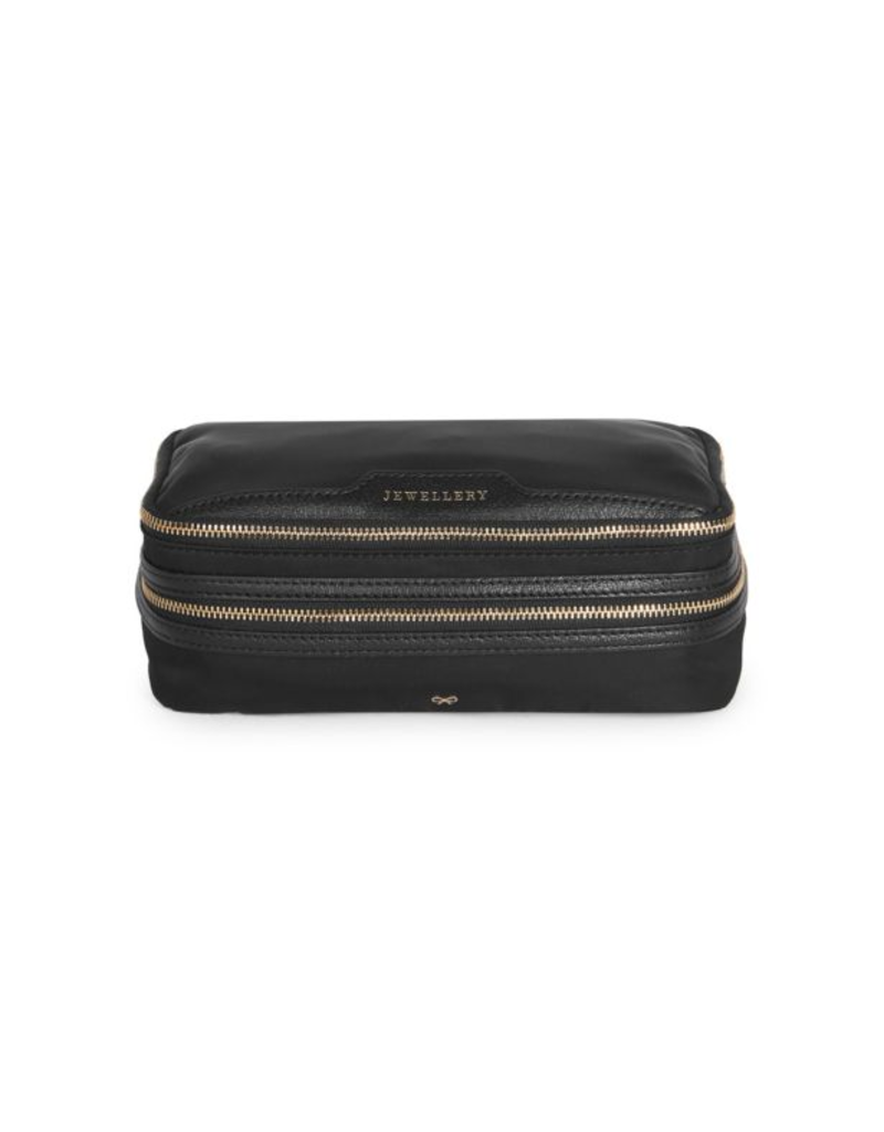 ANYA HINDMARCH Jewelry Pouch Black Nylon