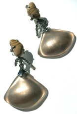 ALEXIS BITTAR Crystal Maze Earrings - Charcoal Brown