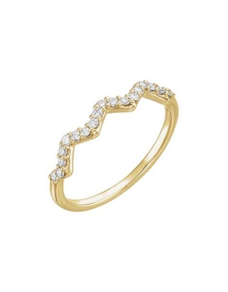 LAUREN FINE JEWELRY Diamond Zig Zag Ring