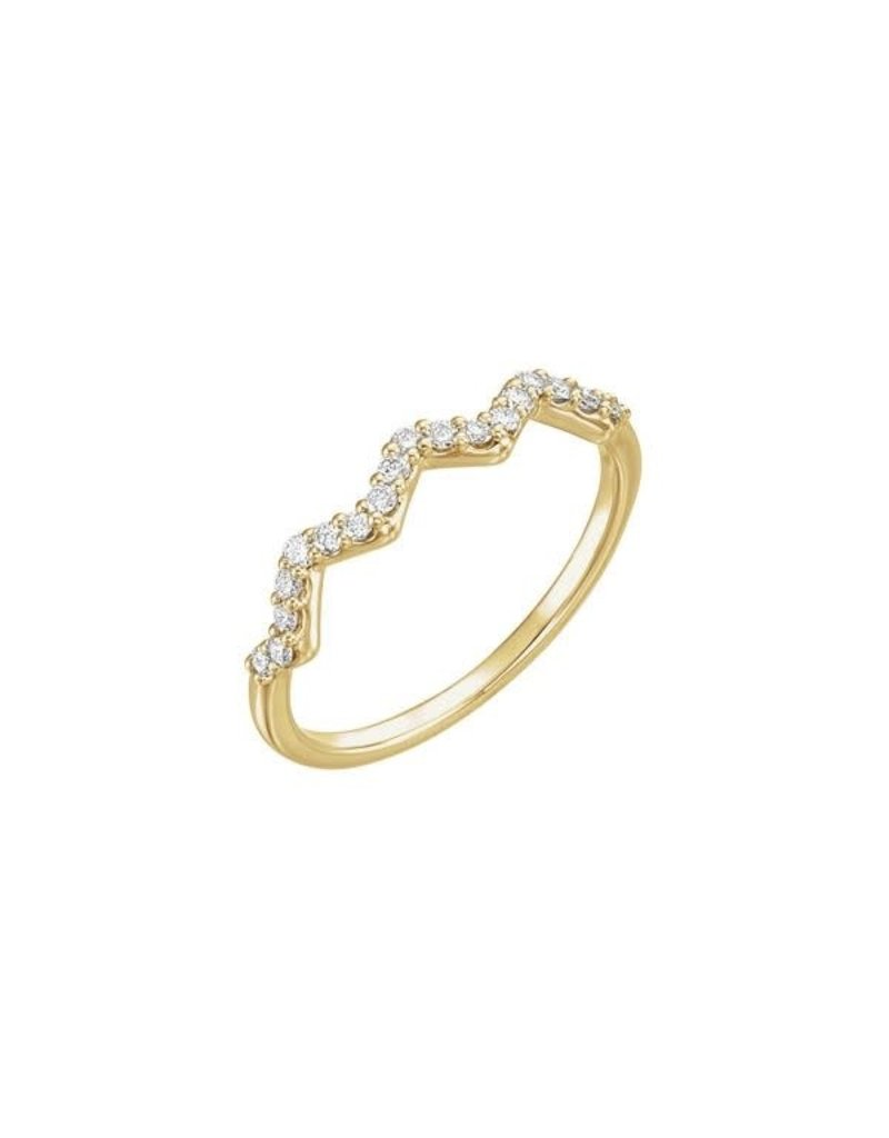 LAUREN FINE JEWELRY Diamond Zig Zag Ring