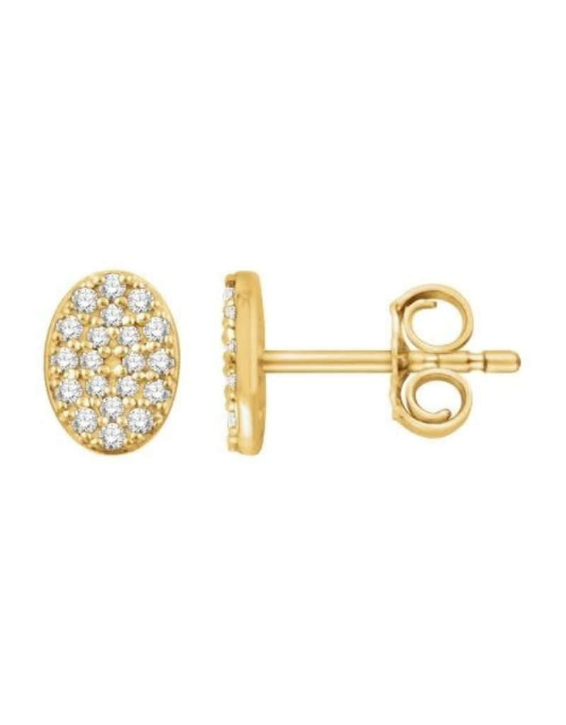 302 COLLECTION Diamond Oval Cluster Earrings