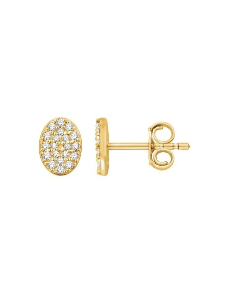 LAUREN FINE JEWELRY Diamond Oval Cluster Earring
