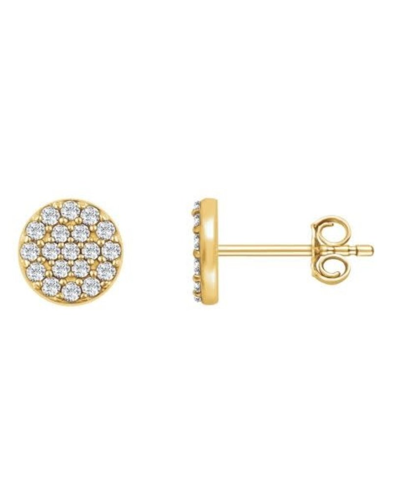 Diamond Round Cluster Earrings