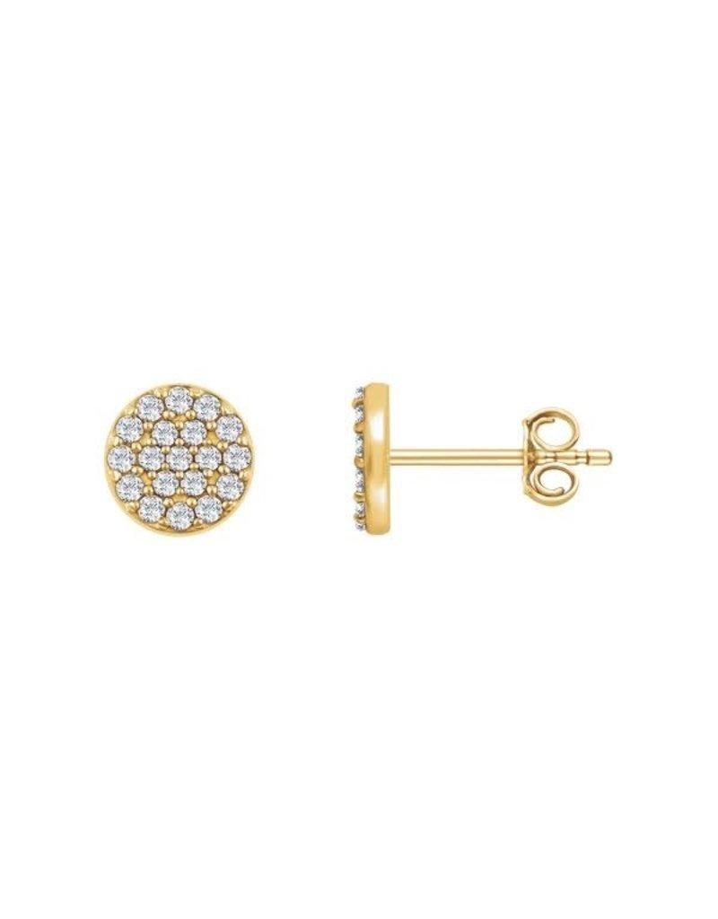 LAUREN FINE JEWELRY Diamond Round Cluster Earring