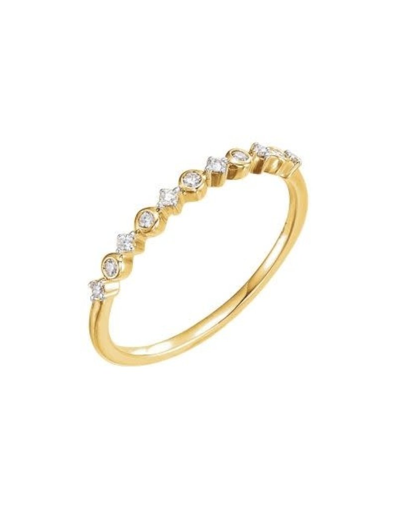 LAUREN FINE JEWELRY Petite Diamond Stacker Ring