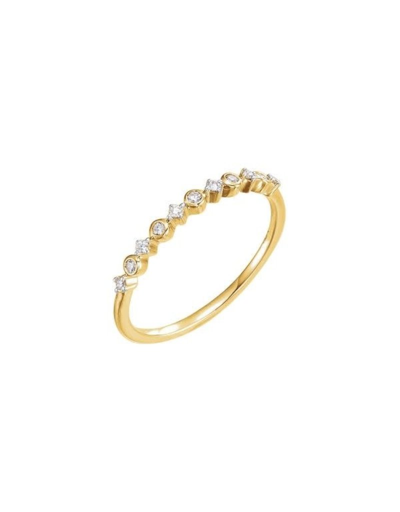 LAUREN FINE JEWELRY Petite Diamond Stacker Ring