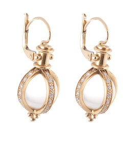 TEMPLE ST CLAIR Round Crystal Pave Amulet Earring